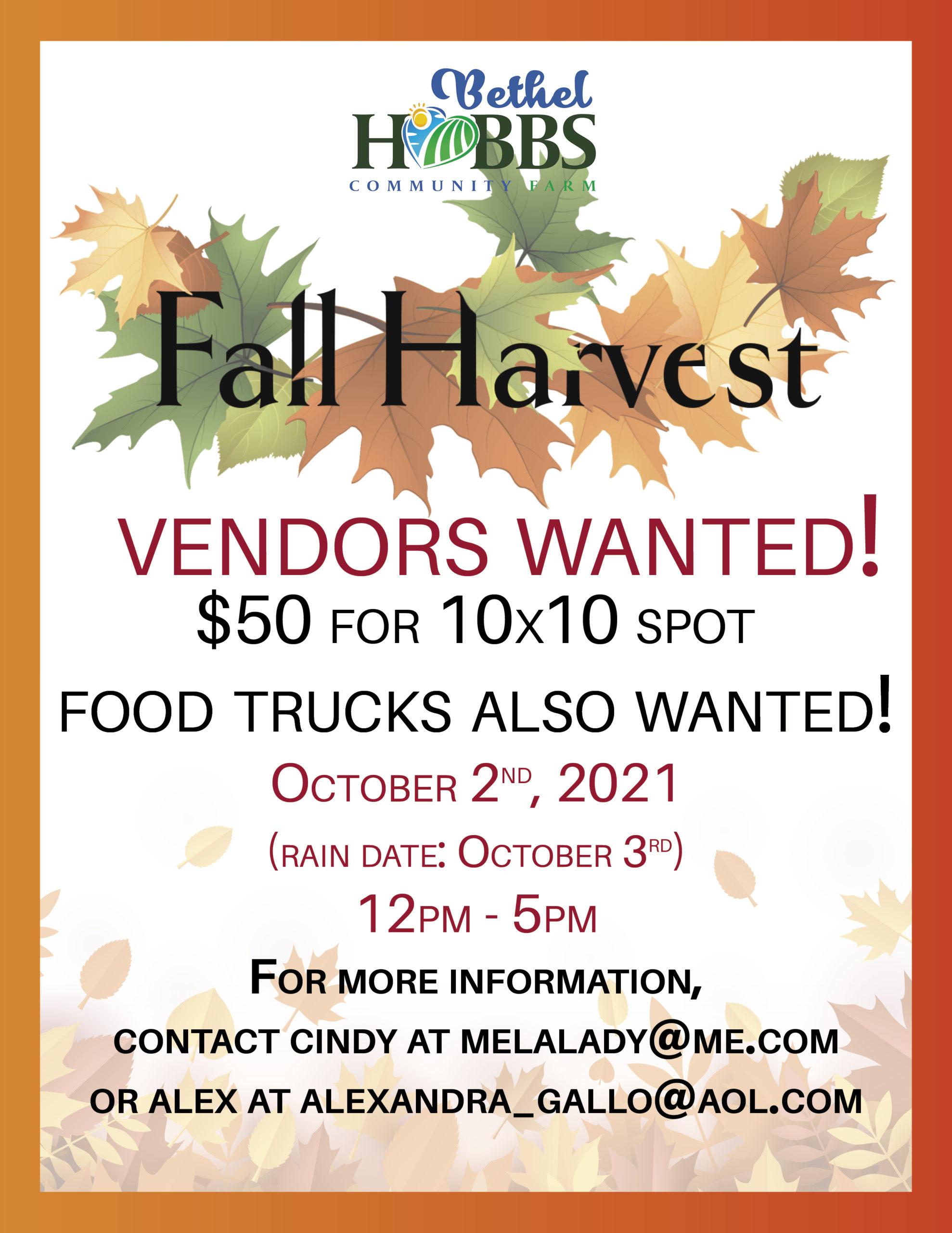 Fall Harvest Festival at Bethel Hobbs Farm
